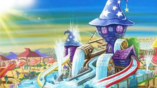 Gardaland Magic Village Schwimmbad Artwork