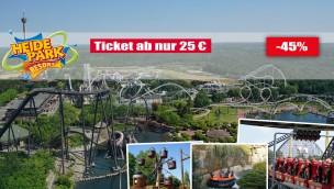 Heide Park Tickets günstiger: Angebot ab 25 Euro mit 45 Prozent Rabatt