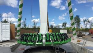 """""""High Fly"""" im Skyline Park ist aufgebaut: Neue Überkopf-Schaukel bereit für Testfahrten"""