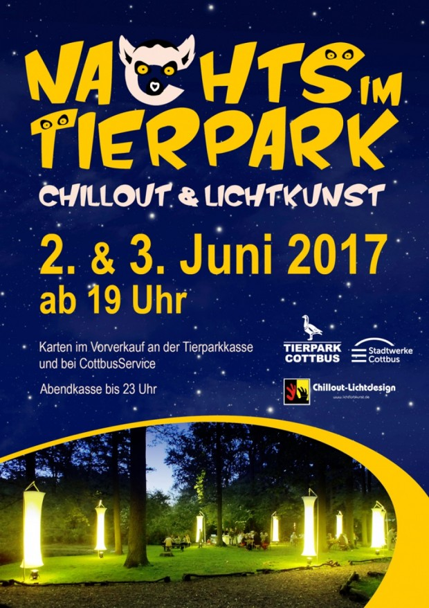 Nachts im Tierpark Cottbus 2017 Plakat