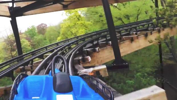 OnRide Dawson Duel Bellewaerde Duelling Alpine Coaster