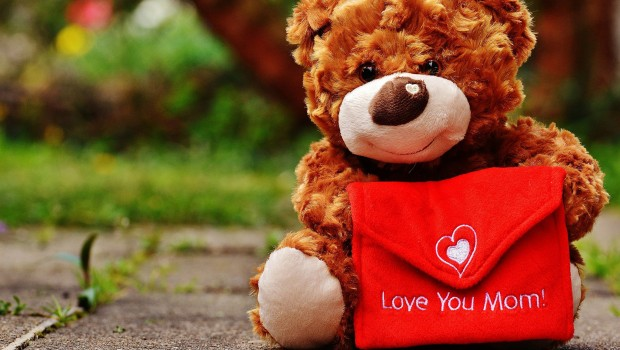Teddy Love You Mom - Muttertag