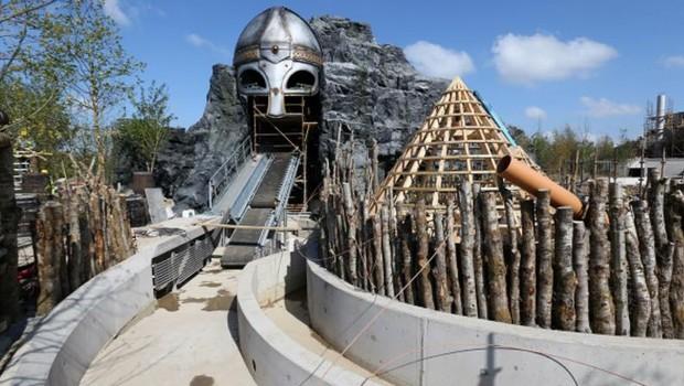 The Viking Voyage Tayto Park Baustelle im Mai 2017