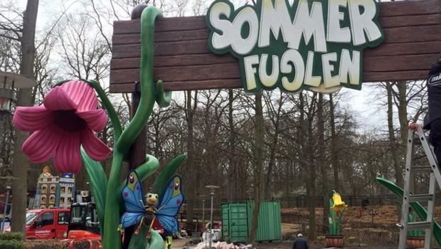 Tivoli Friheden Sommerfuglen Baustelle Thematisierung
