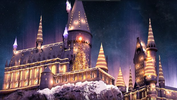 Universal Studios Orlando Hogwarts Schloss Harry Potter Weihnachten 2017