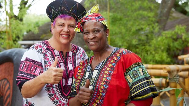 African Food Festival Europa-Park Köchin Anita Roux und Maggie Sekepane