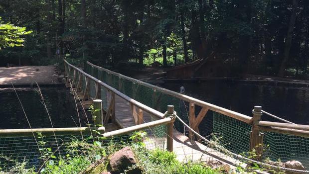 Neue Brücke im Freizeit-Land Geiselwind