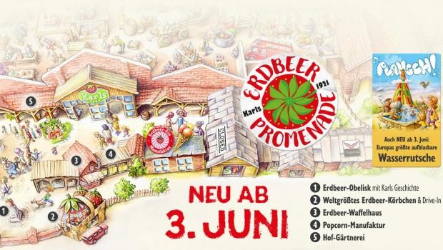 Karls Erlebnis-Dorf Rövershagen Erdbeer-Promenade