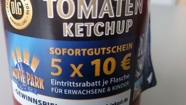 Movie Park Germany Gutschein 2017 auf Ketchup von Werder