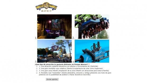 Parque Warner Madrid Umfrage Neuheit