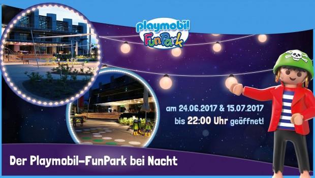 PLAYMOBIL-FunPark bei Nacht