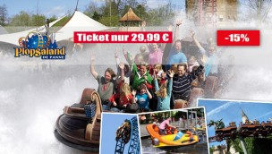 Plopsaland De Panne günstig besuchen: Tickets für 29,99 € mit 15 % Rabatt!