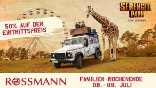 Serengeti-Park: Aktion mit Rossmann ermöglicht 2017 wieder 50 Prozent Eintritts-Rabatt im Juli
