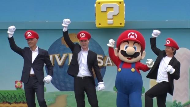 Super Nintendo World Universal Studios erster Spatenstich