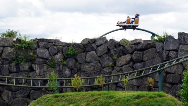 Airtime-Hügel bei der Heißen Fahrt im Wild- und Freizeitpark Klotten