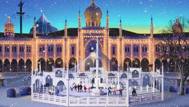 Winter in Tivoli Gardens Dänemark Visual