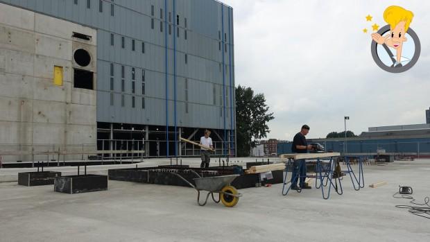 Attractiepark Rotterdam Bauarbeiten Achterbahn Shuttle Loop