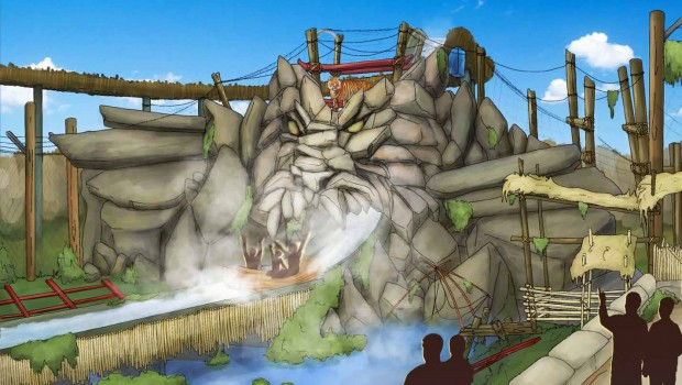 Chessington World of Adventures Mystic East Artwork Dragon Falls
