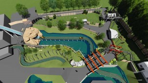 Chessington World of Adventures Artwork Mystic East Dragon Falls