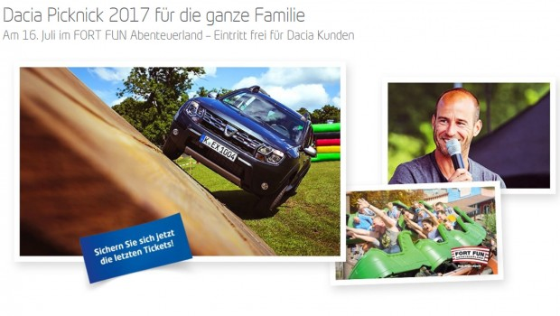 Dacia Picknick 2017 im FORT FUN Abenteuerland