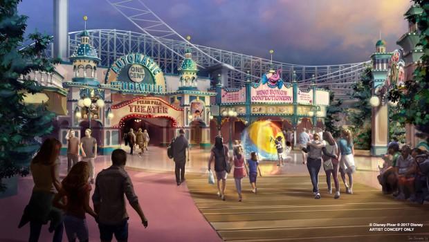 Disney California Adventure Park Pixar Pier Artwork