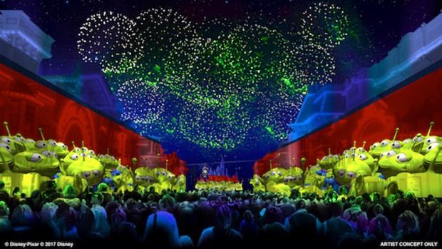 Disney California Adventure Park Pixar Play Parade Artwork