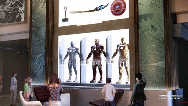 Disneyland Paris Marvel Hotel Lobby Artwork Detail