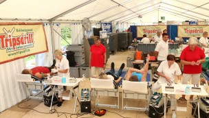DRK Blutspende-Zelt Tripsdrill