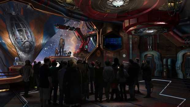 Epcot Guardians of the Galaxy Indoor Artwork