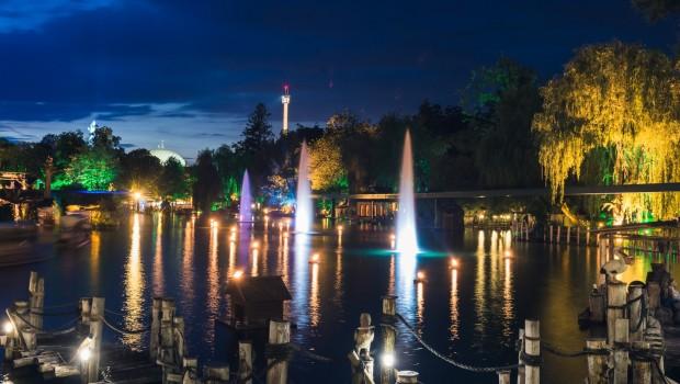 Europa-Park See bei Nacht