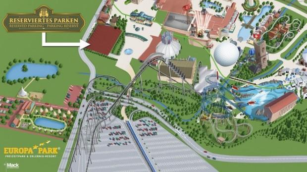 Europa-Park VIP Reserviertes Parken am Haupteingang