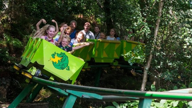 Green Dragon Roller Coaster Greenwood Forest Park