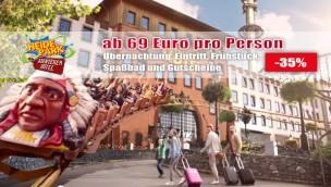 Abenteuerhotel Heide Park: Übernachtung mit Frühstück und Parkeintritt ab 69€ p.P. bei Reise zu viert
