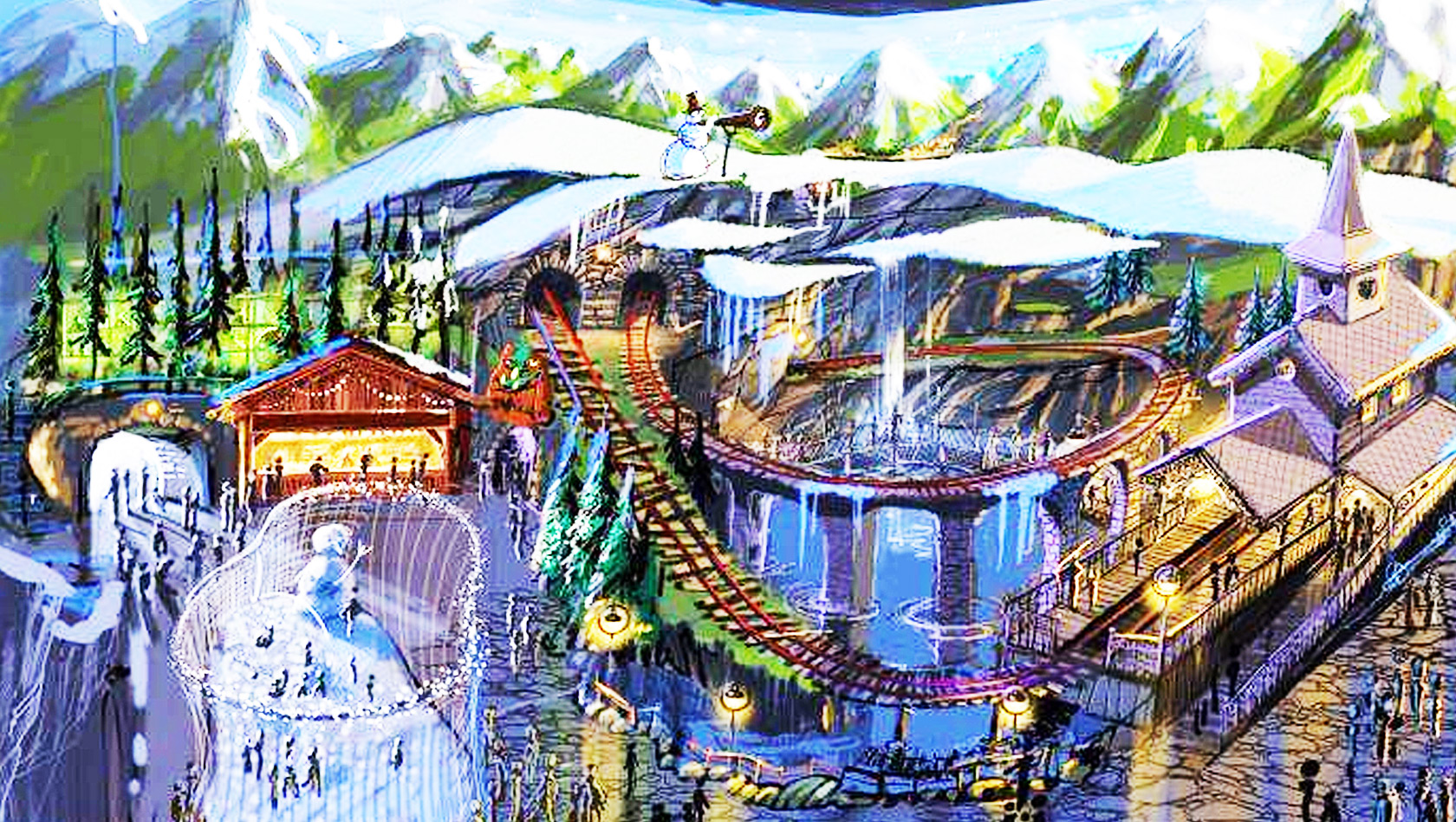 Holiday Park Indoor Heidiland Artwork