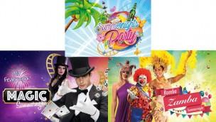 Summernights im Holiday Park 2017: Von 8. Juli bis 12. August samstags Motto-Tage bis 23 Uhr