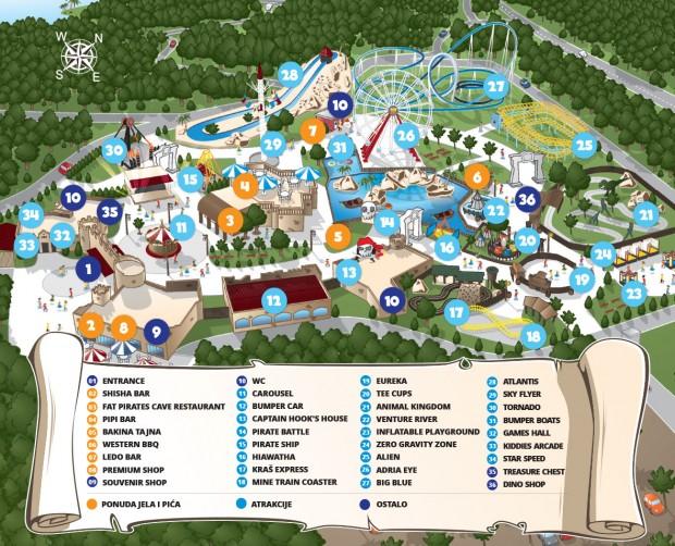 Mirnovec FunPark Parkplan 2017