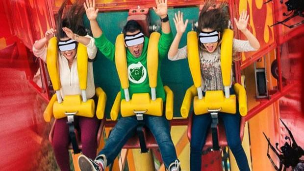Six Flags Mexiko Freifallturm Virtual Reality Caida al Abismo