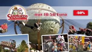 Günstig Slagharen buchen: Ticket-Angebot mit 50 % Rabatt auf Eintrittskarten 2017/18