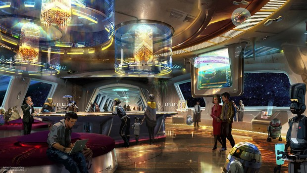 Star Wars Hotel in Disney World - Bar Artwork