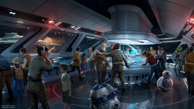 Star Wars Hotel in Disney World - Lobby Artwork