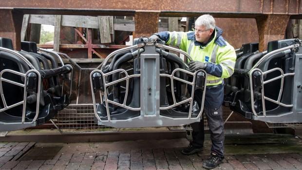 TÜV Nord Fahrgeschäfte-Prüfung Stukenbrock Flying Oil Pump