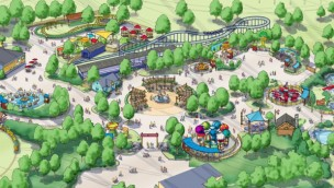 Camp Snoopy Carowinds Artwork Übersicht