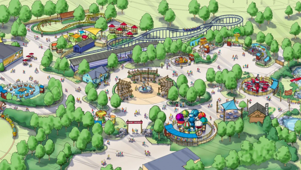 Camp Snoopy Carowinds Artwork Übersicht
