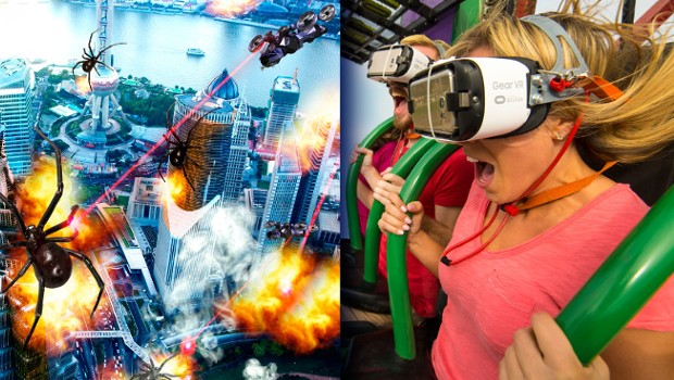"""Drop of Doom VR"" in La Ronde"