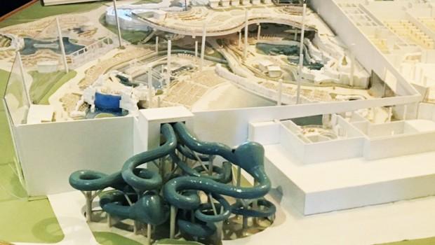 Europa-Park Rulantica Wasserpark Modell Nahaufnahme