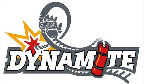 Freizeitpark Plohn Dynamite Achterbahn Logo