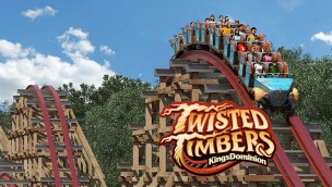 Kings Dominion Twisted Timbers Key Artwork