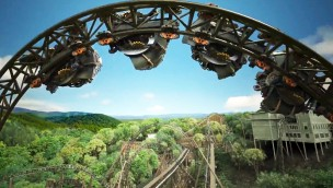 MACK Xtreme Spinning Coaster Silver Dollar City rendering