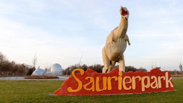 Saurierpark Kleinwelka Dinosaurier Modell Begrüßung
