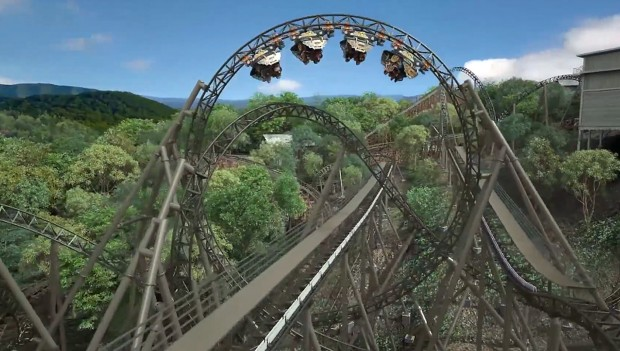 Silver Dollar City Time Traveler Looping Rendering